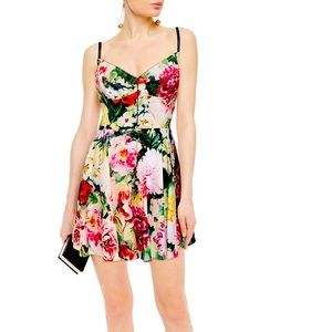 Gorgeous D&G floral print poplin mini corset style